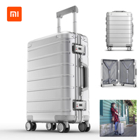 Xiaomi 90FUN Metal Travel Suitcase Luggage Carry on Spinner All direction Wheel Suitcase 20 Inch for Men Women