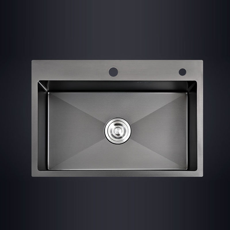 Black Single Kitchen Sink Above Counter and Udermount Vegetable Washing Basin Sink Kitchen Black Stainless Steel Ship From Local