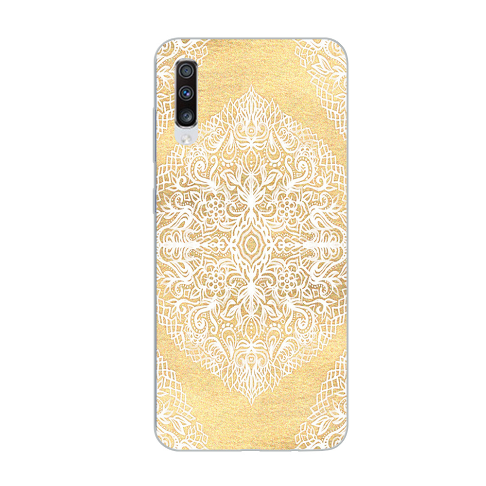 Image 5 - ciciber Phone Case for Samsung Galaxy A50 A70 A80 A40 A30 A20 A60 A10 A20e Soft Silicone Mandala Flower Pattern Cover Funda Capa-in Fitted Cases from Cellphones & Telecommunications