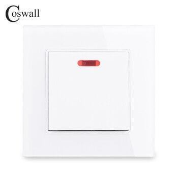 COSWALL 20A DP przełącznik z Neon Panel ze szkła kryształowego dla bojler na On / Off przełącznik do montażu ściennego do klimatyzatora