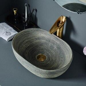 Керамическая раковина в стиле ретро, раковина для ванной комнаты, американский стиль