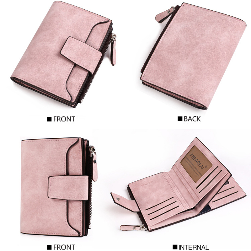 Leather Women Wallet Hasp Small and Slim Coin Pocket Purse Women Wallets Cards Holders Luxury Brand Wallets Designer in Wallets from Luggage Bags
