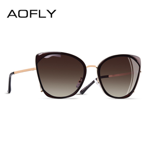 AOFLY Cat Eye Sunglasses Female Polarized Luxury BRAND DESIGN Oversize Vintage Shades For Women 2020 Trendy Ladies Goggles UV400