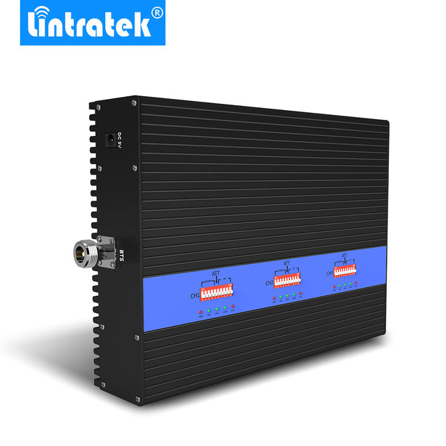 Lintratek Powerful 80dB Tri Band Signal Booster KW25A Pro. GSM 900Mhz UMTS 2100mhz 2G 3G 4G LTE 1800Mhz Mobile Signal Amplifier