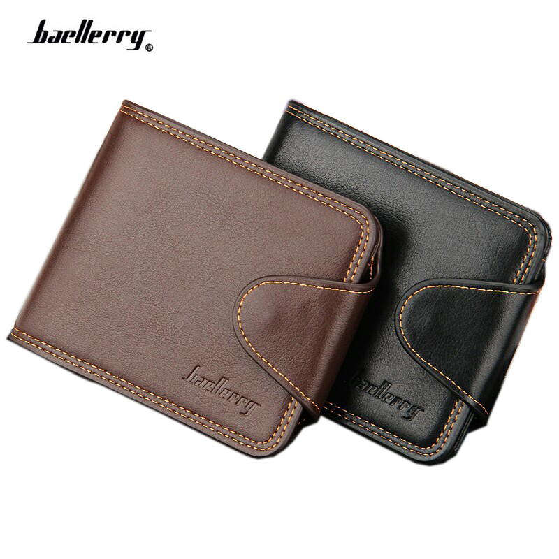 2018 NEW Arrival Men's Wallet Quality Guarantee Hasp England Style Card Purse Fashion Designer's Short Coin Wallet For Male