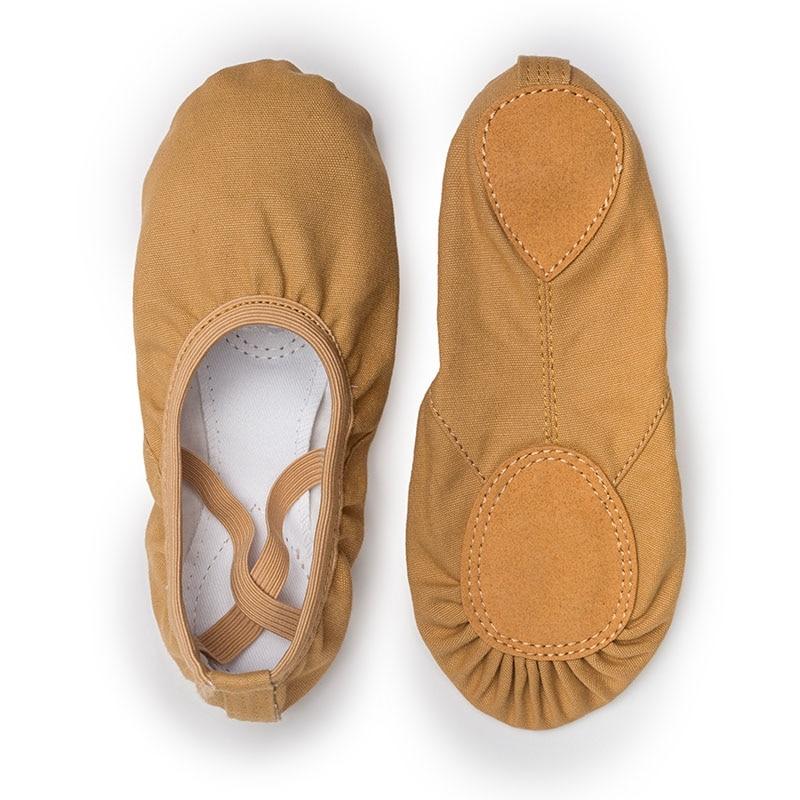 USHINE Quality TuoSe Professional Ballerina Split-Sole Canvas Dance Gymnastics Kids Yoga Ballet Flats Children Dance Shoe Woman