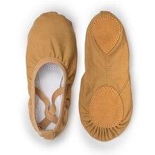 USHINE جودة توز المهنية راقصة الباليه انقسام وحيد قماش الرقص الجمباز الاطفال اليوغا الباليه الشقق الأطفال حذاء للرقص امرأة