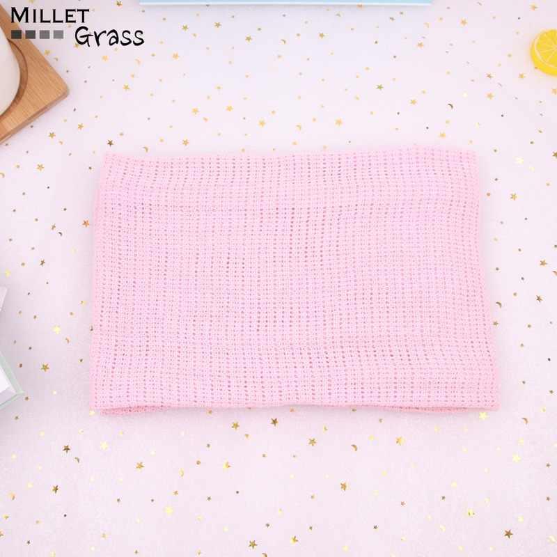 Letnie bawełniane koce dla dzieci cukierkowe kolory niemowlęta koce podróżne noworodka pościel dla dzieci przewijać maluch zdjęcie rekwizytu 75*100cm