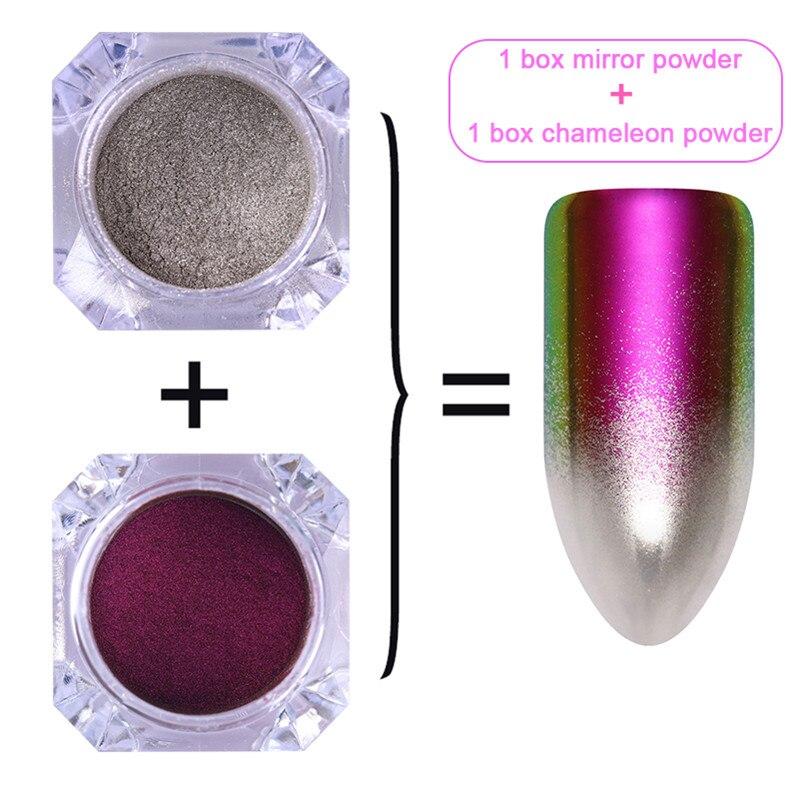 1 коробка жемчужный блеск для ногтей порошок зеркальный матовый эффект блеск Лазерная пыль Маникюр мерцающий пигмент украшение для ногтей - Цвет: set 6