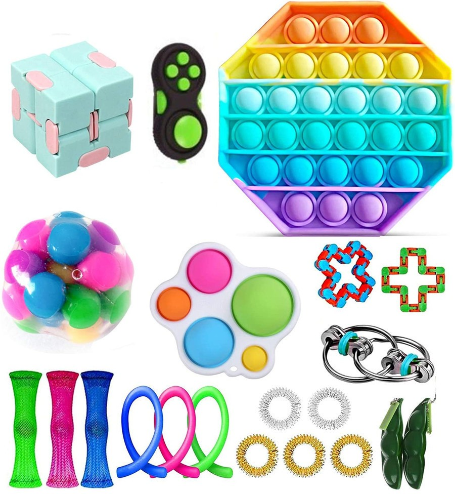 Antistress Fidget Toys Push Bubble Popit Squeeze Sensory Stress Reliever Autism Needs Adult Anxiety Focus Educational Toy Kids img5