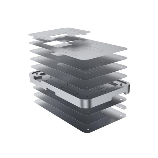 TUOLI TL 19A 10 In1ดีบุกปลูกแพลตฟอร์มสำหรับ iPhone X 12 Pro Max PCB เมนบอร์ดผู้ถือ Logic Board บัดกรีเครื่องมือบำรุงรักษา