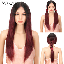 цена на Miracle Hair Lace Front Wig  Straight Lace Front Wig Red Wig 26