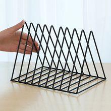 Железная стойка для записей LP треугольный книжный магзин держатель настольный органайзер для хранения записей