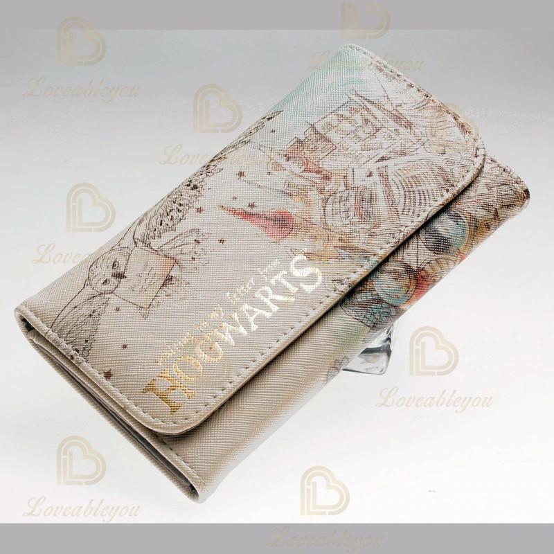 Poudlard-portefeuille aquarelle pour femmes, belle pochette Cosplay, porte-monnaie tendance, portefeuille