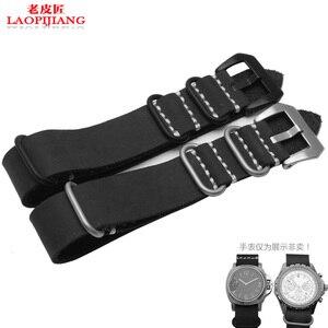 Image 2 - Calidad de Servicio Crazy Horse correa de reloj de cuero adaptador pegamento mar hecho a mano correa de reloj de cuero 22mm 24mm 26mm old NATO correa para hombres