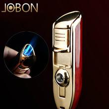 Jobon роскошный тройной фонарь струйная зажигалка газовая для