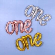 1pc 107*50cm grande siameses um balão da folha de alumínio do bebê 1 ano de idade decoração aniversário carta balões de filme de alumínio