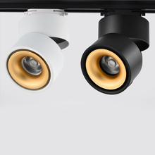 [DBF] светодиодный светильник с поворотом на 360 градусов, Светодиодный точечный светильник s 7 Вт 10 Вт 12 Вт 15 Вт, регулируемый светодиодный светильник на рельсах, монтируемый на поверхности, Трековый светильник