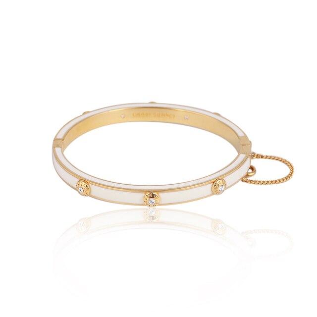 Европейские и американские ювелирные изделия, оптовая продажа, эмалированная цветная глазурованная Мода, простая вставка с заклепками, разноцветный браслет для девочек