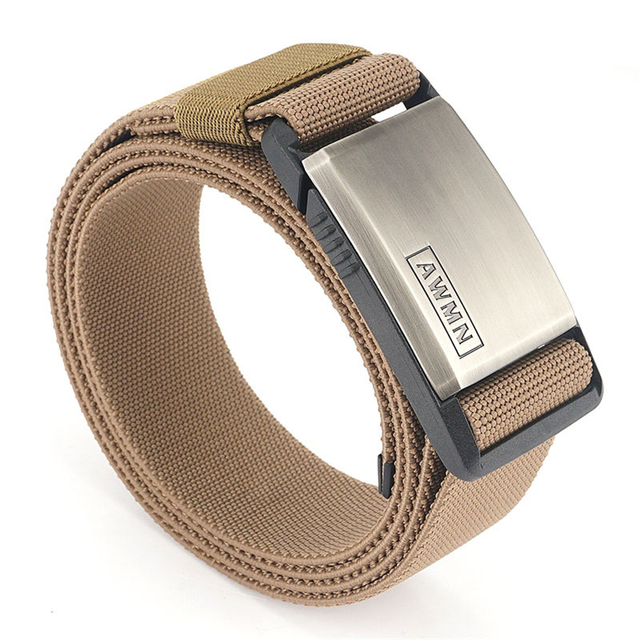 2020 Fashion Nylon Belt Metal Magnetic Buckle Adjustable Belts For Men  Military Combat Elastic Belts High Quality Wear resistant|Men's Belts| -  AliExpress