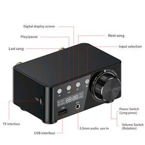Image 3 - Novo bt5.0 amplificador digital classe d potência amplificador casa 100w estéreo de alta fidelidade som amplificador áudio suport aux tf mp3 player