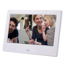 SJD-703 7Inch Digital Photo Frame 1024 x 600 H-D Screen Desktop Album Display Image MP4 Video MP3 Audio Clock Calendar with Infr