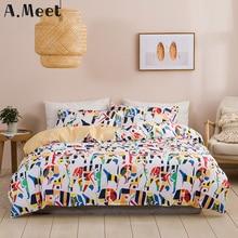 Одеяло устанавливает кровать в постельных принадлежностей одеяло одеяло синий мальчиков комплект двуспальная 200х200 симпатичные Kawaii обложка Европейского девочек Нордик