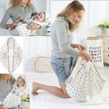 Portable Baby Swaddle Wrap Parisarc 100% Cotton Soft Infant Newborn Baby Products Blanket & Swaddling Wrap Blanket Sleepsack cap(China)