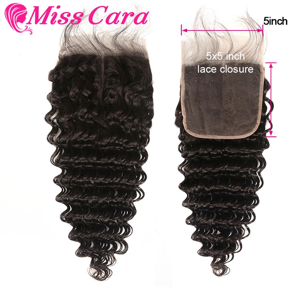 Miss Cara Brazilian Deep Wave With Baby Hair Closure Human Hair 10-20