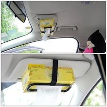 Универсальный автомобильный солнцезащитный козырек для спинки стула, тканевая бумажная коробка для полотенец, автомобильный подвесной держатель для салфеток, автомобильные аксессуары, крепление к спинке сиденья
