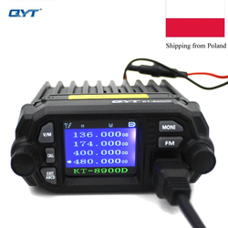 QYT KT-8900D 25W Dual band Quad Display 136-174&400-480MHz Large LCD Display Mobile Radio KT8900D