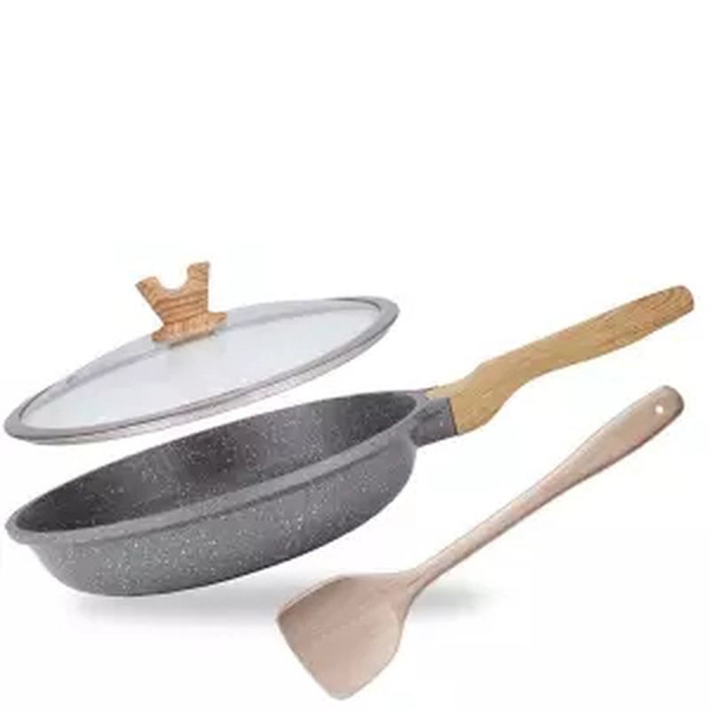Wok Non-stick Pan No Smoke Flat-bottom Cooking Pot Household Frying Pan Induction Cooking Pan  Cast Iron Pan Cooking Wok