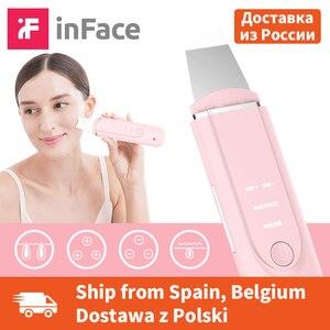 Image 1 - Ультразвуковой ионный Очищающий Инструмент InFace, массажный скребок для кожи, лопатка для пилинга, устройство для очистки пор лица