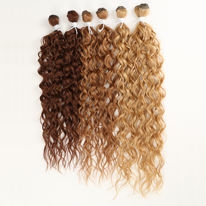 Afro kinky curly cabelo pacotes ombre marrom