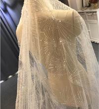 2019 الفاخرة طويل الدانتيل الحجاب طرحة زفاف تألق الزفاف الحجاب 3*4 أحجام