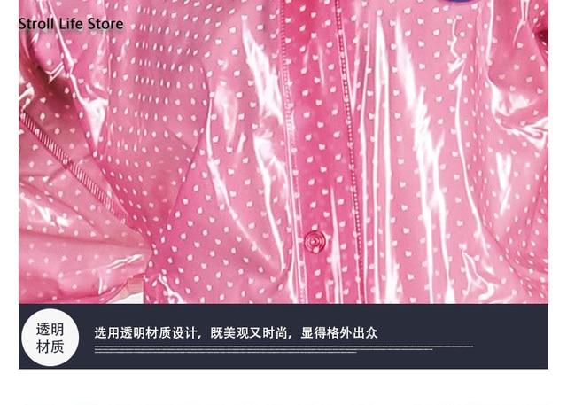Motorcycle Raincoat Suit Waterproof Rain Coat Women Transparent Electric Riding Car Battery Pink Plastic Suit Capa De Chuva Gift 3