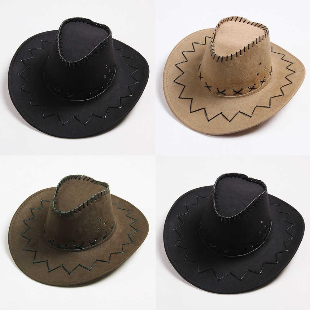 للجنسين الرجال والنساء قبعة رعاة البقر واسعة حافة بلون قبعات للرجال السفر عادية يتوهم حفلة ذكر أنثى راعية البقر القبعات قبعة