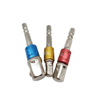 3 pces 1/4 3/8 1/2 hex hex chave de fenda haste extensão de energia adaptador adaptador bit broca porca motorista para motocicletas carro