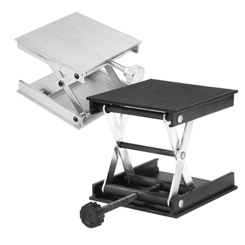 Aluminum Router Lift Table Woodworking Engraving Lab Lifting Stand (Black)