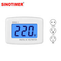 AC 80-300V Digital Voltmeter EU US AU Plug Volt Meter Socket Voltage Tester LCD Display Voltage Meter 110V 220V DM55-1