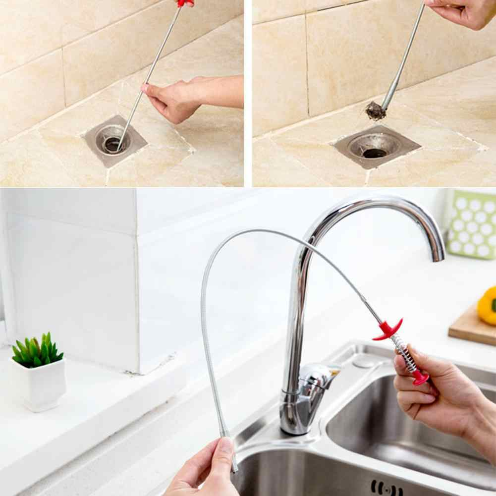 Bendable Sink Cleaning Hook Sewer Dredging Tool Spring Pipe Hair Remover
