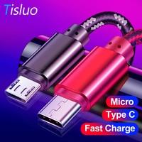 Micro USB Kabel 1m Typ-C Nylon Geflochtene Data Sync USB Ladegerät Kabel Für Samsung Huawei Xiaomi Tablet android USB Telefon Kabel