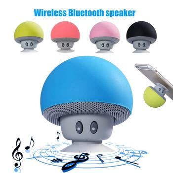 Cute Mini Wireless Bluetooth Speaker MP3 Music Player Waterproof Portable Stereo Bluetooth Mushroom Speaker boombox For Phone PC image