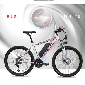 Image 4 - Smlro 48v 15A 350W 26 인치 모터 구동 전기 자전거 자전거 산악 차량 bicicleta electrica ebike