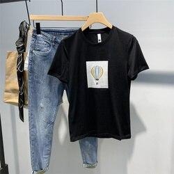 Sommer ultra-dünne eis seide T-shirt männer half-ärmeln engen bestickt atmungsaktive mitfühlende streifen