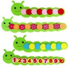 Монтессори математическая Игра цвет сортировки червя ребенка