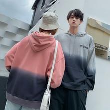 купить Autumn New Hoodies Men Fashion Hoodie Contrast Color Casual Hooded Pullover Man Streetwear Hip Hop Loose Couple Sweatshirt S-3XL по цене 2124.58 рублей