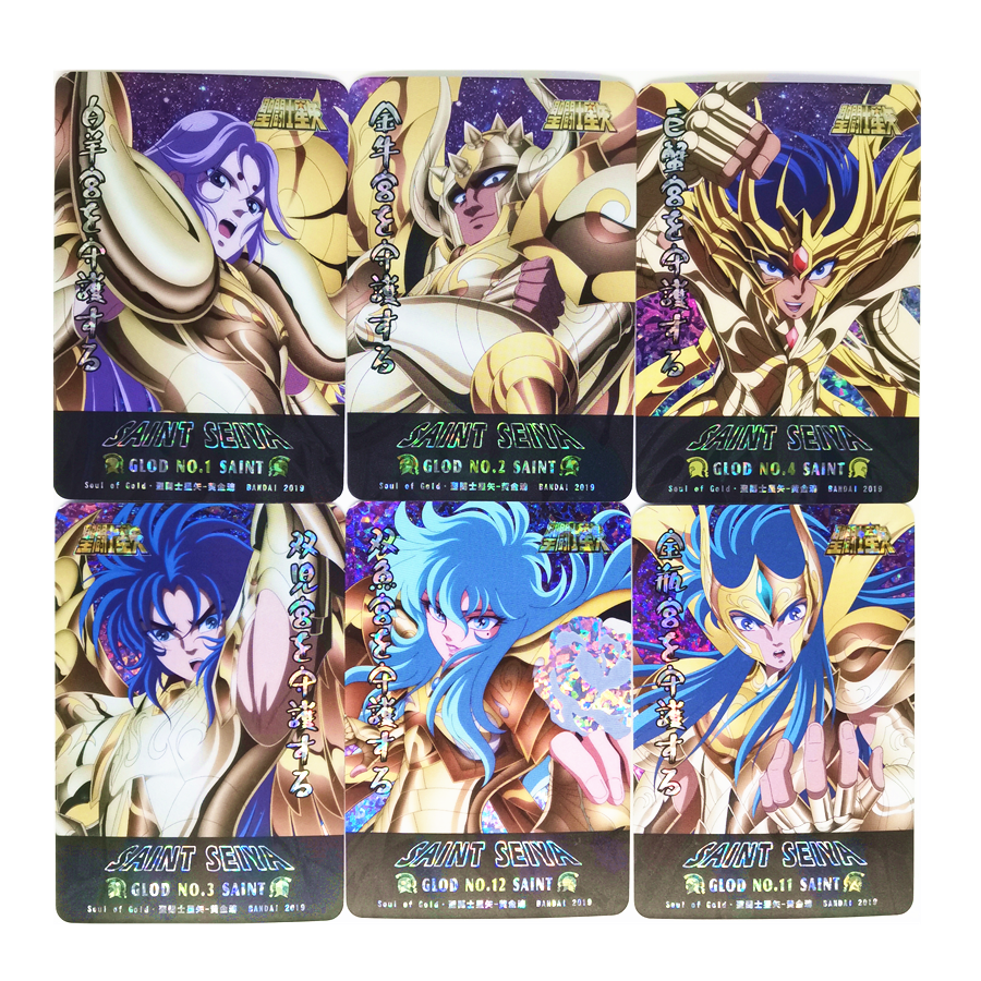 12pcs/set Saint Seiya Soul Of Gold Toys Hobbies Hobby Collectibles Game Collection Anime Cards