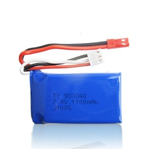 Image 5 - 3Pcs for Wltoys A949 A959 A969 A979 K929 LiPo Battery 7.4V 1100mah 903048 25c Lipo Battery For RC Helicopter Airplane Cars Boats