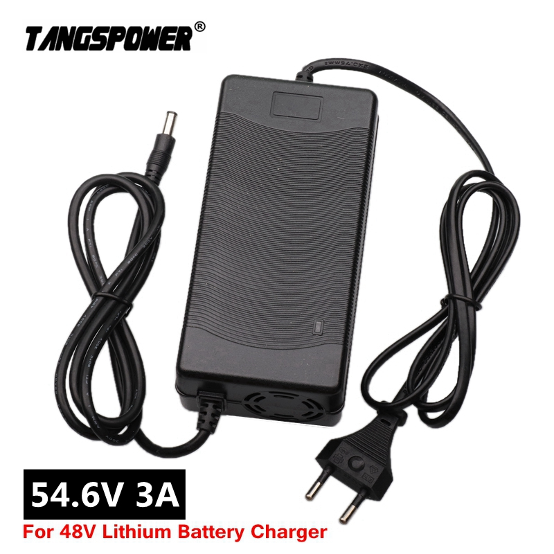 54.6V3A charger 54.6V 3A electric bike lithium battery charger for 48V lithium battery pack High quality Strong heat dissipation